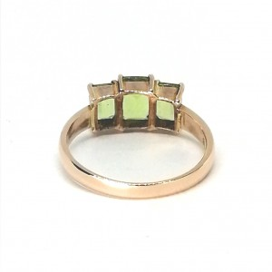 9ct Rose Gold 3 Stone Peridot Ring